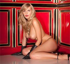 Sexy blonde Chikita flash her natural huge boobies